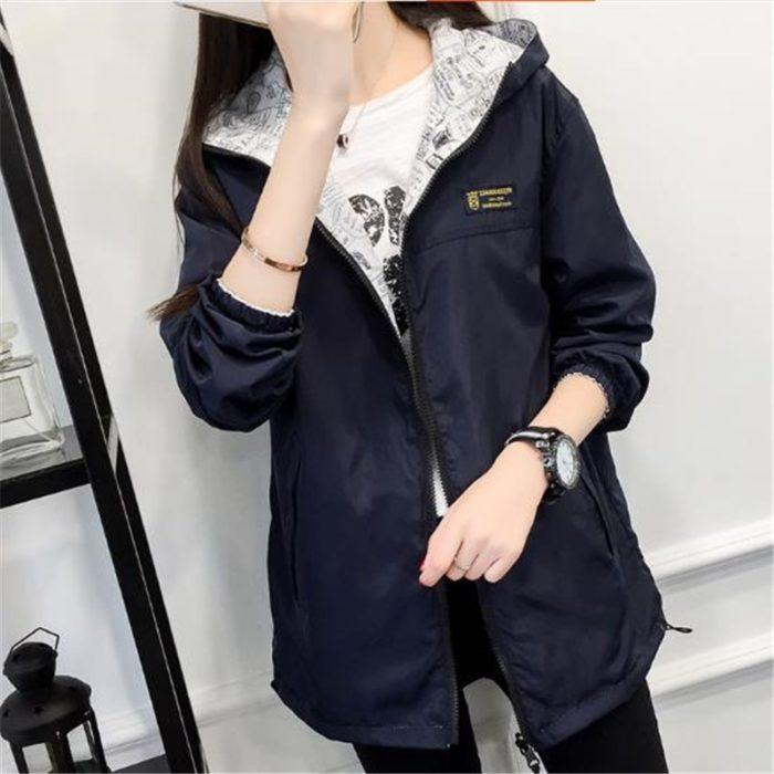 Women's Windbreaker Jacket Reversible