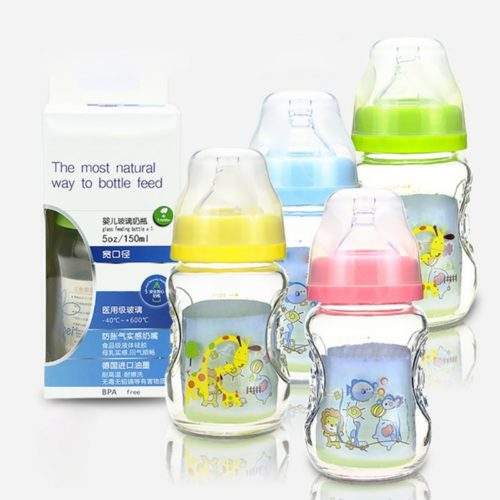Glass Feeding Bottle Baby Milk Bottle