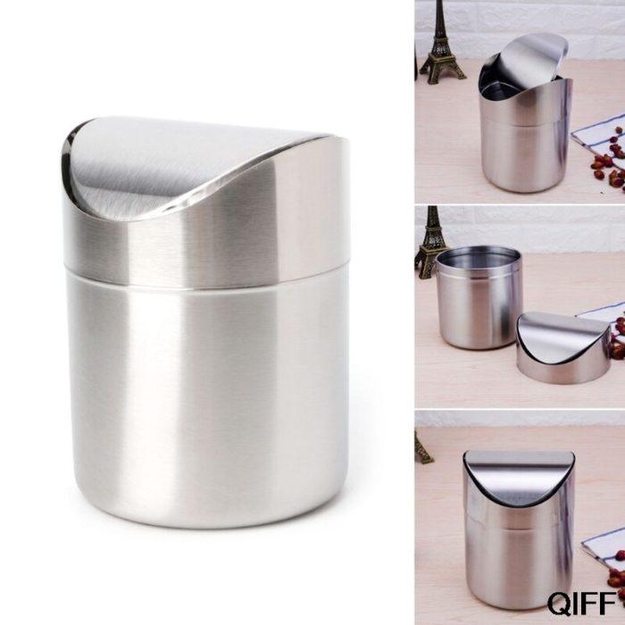 Steel Dustbin Desk Trash Can