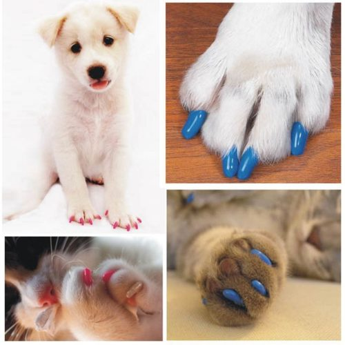 Dog Nail Caps 20PCS Soft Rubber Covers