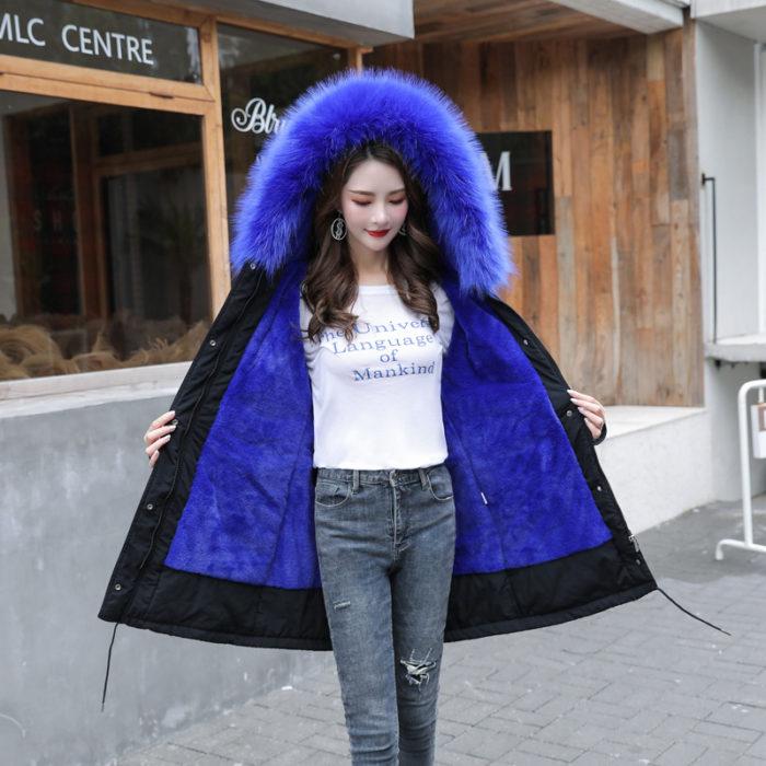 Fur Hooded Coat Ladies Winter Jacket