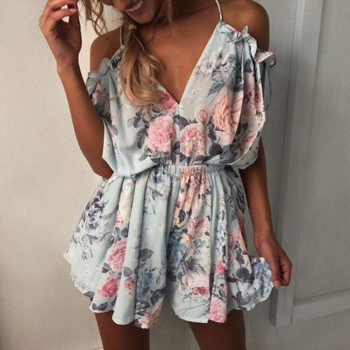 Floral Romper Ladies Stylish Apparel