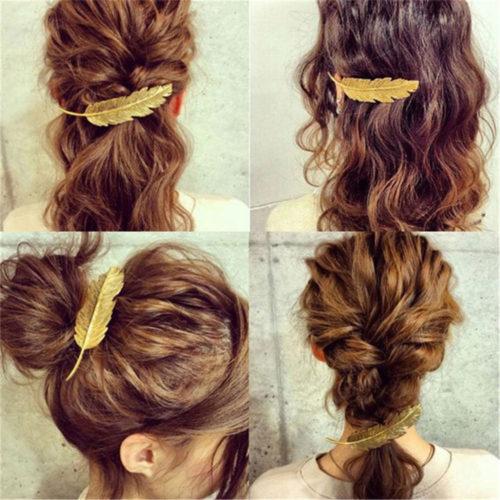 Feather Hair Clip Fashionable Hair Accessory