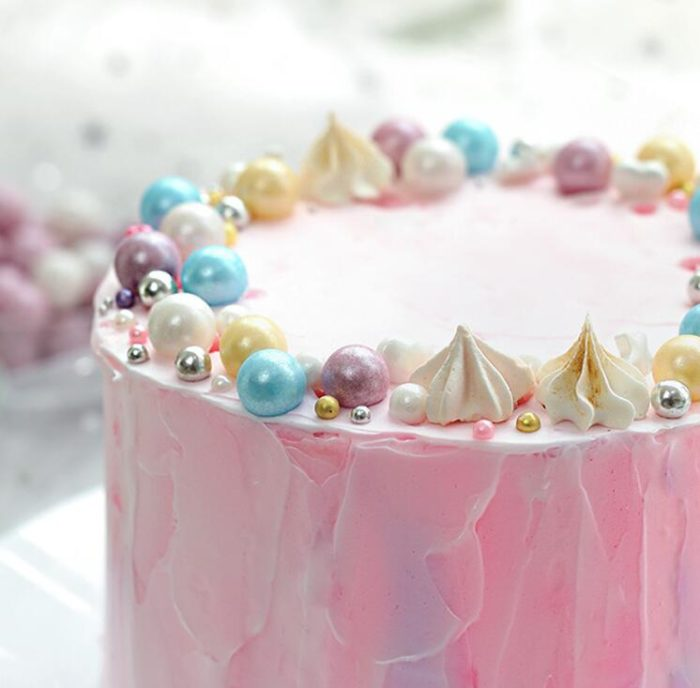 Edible Pearls Colorful Pastry Decoration