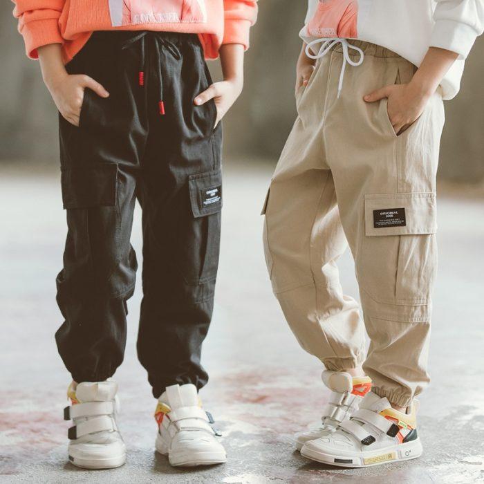 Kids Cargo Pants Kids Pocket Trousers