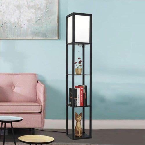 Floor Lamp With Shelves Lighting Fixture