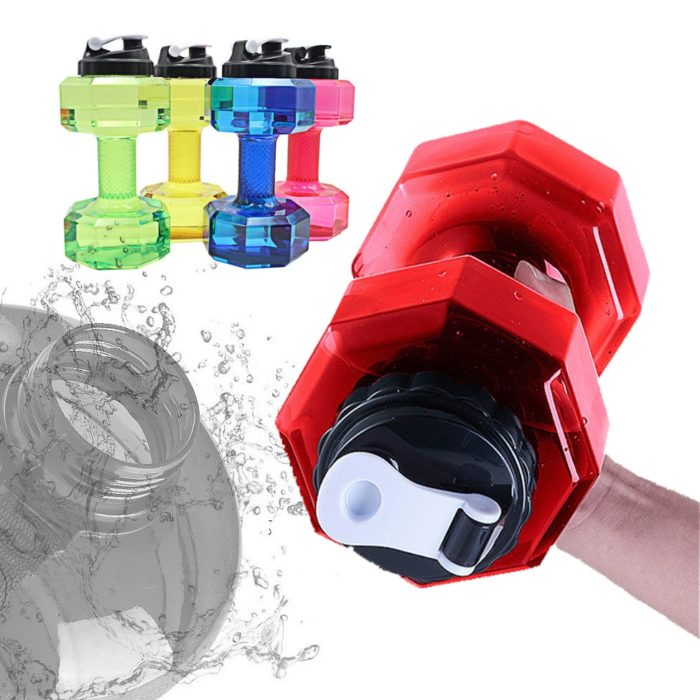Water Dumbbell Sports Drinking Bottle