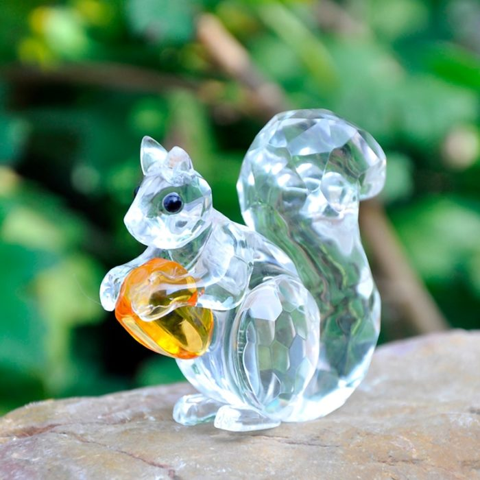 Squirrel Ornament Crystal Paperweight