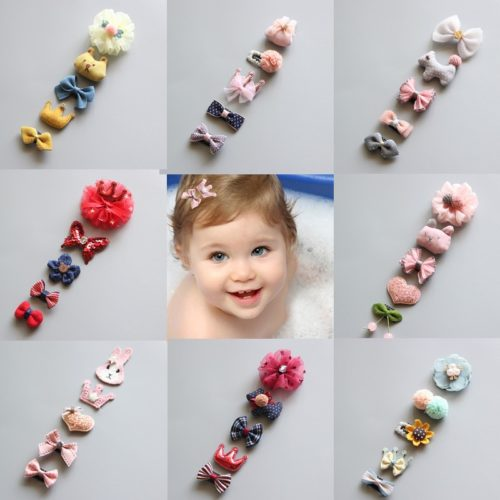Toddler Hair Clips Set (5Pcs)