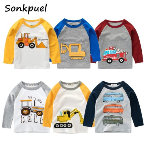 Kids Long Sleeve Shirt Cotton Sweatshirt