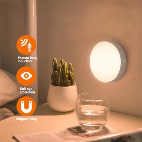 Sensor Night Light Rechargeable Lamp