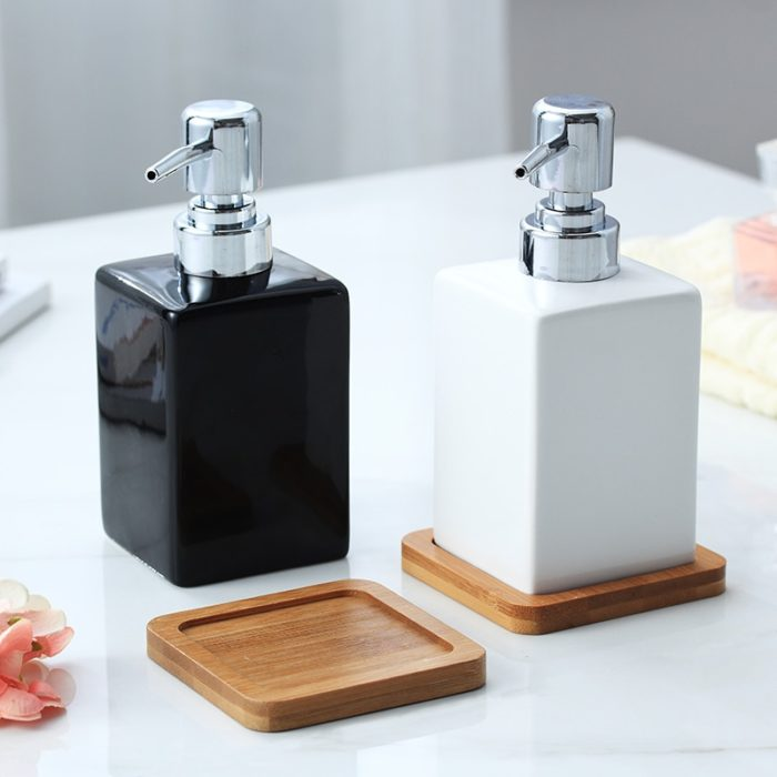 Ceramic Soap Dispenser with Tray