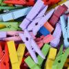 Mini Clothespins Wooden Art Craft Clips (50pcs)