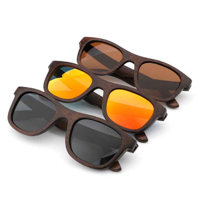 Wood Frame Sunglasses Eyewear