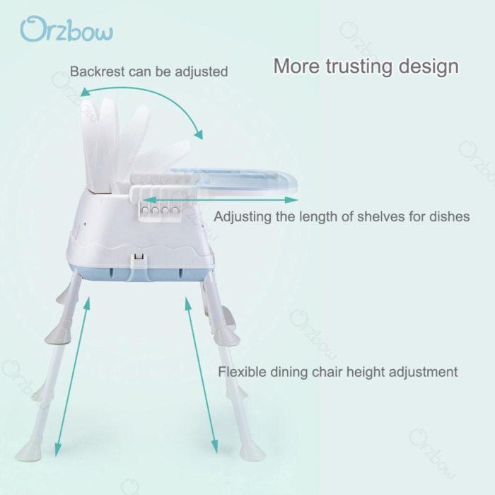 Folding High Chair Adjustable Kids Seat