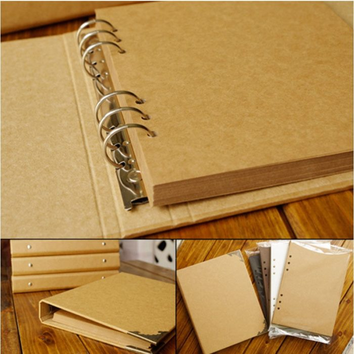 Scrapbook Binder DIY Blank Pages
