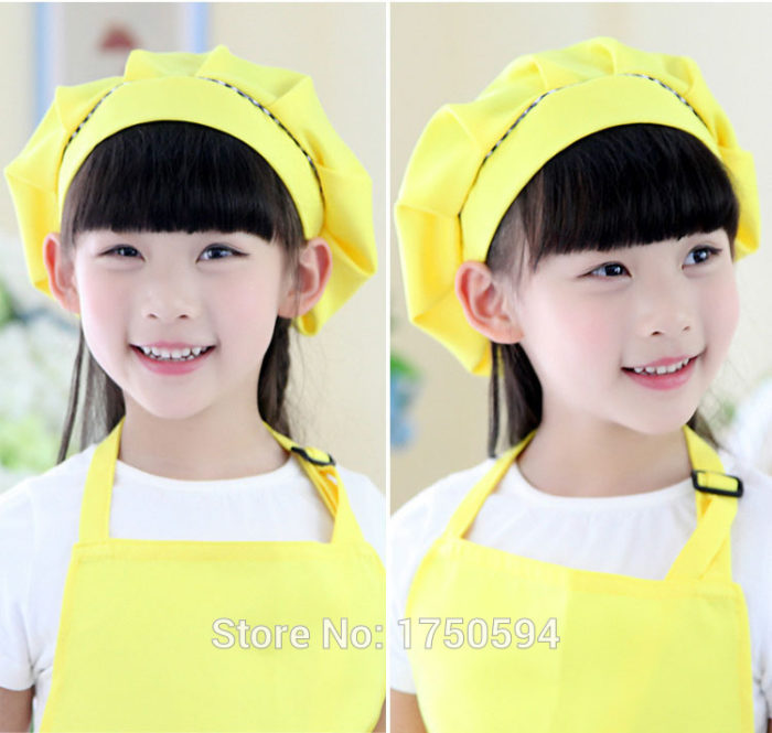 Kids Cooking Apron Cute Adjustable Apron