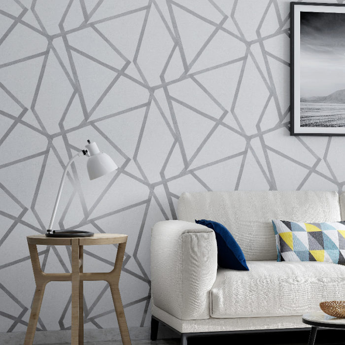Geometric Wallpaper Modern Wall Decor