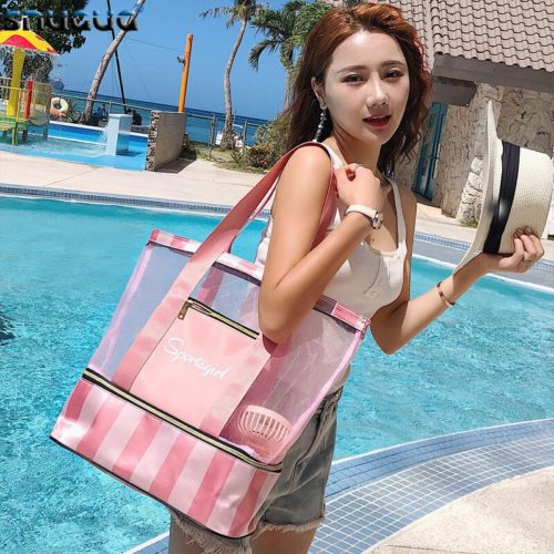 Bag with Shoe Compartment Shoulder Bag