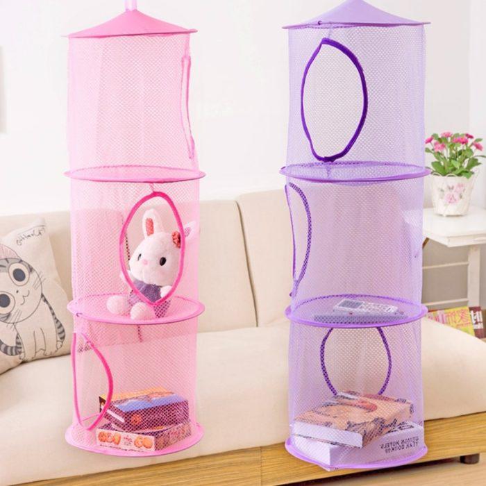 Hanging Toy Storage 3-Layer Organizer