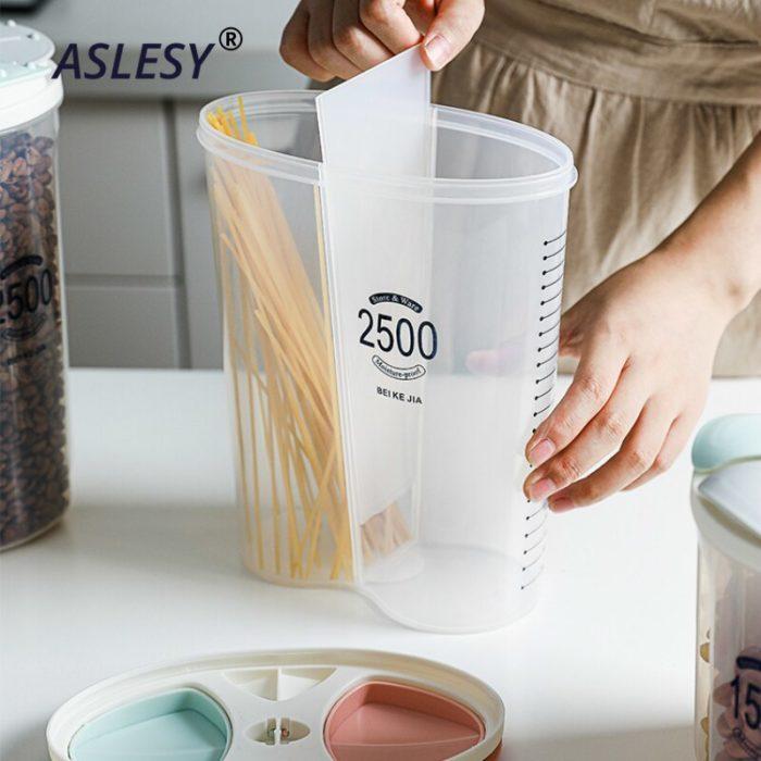 Plastic Cereal Container Grain Jar