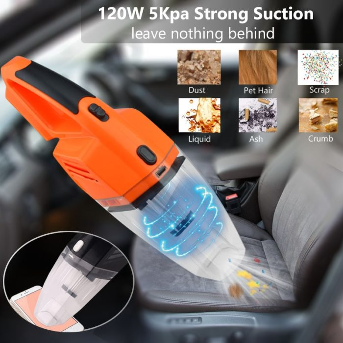 12V Car Vacuum Cleaner Handheld Device