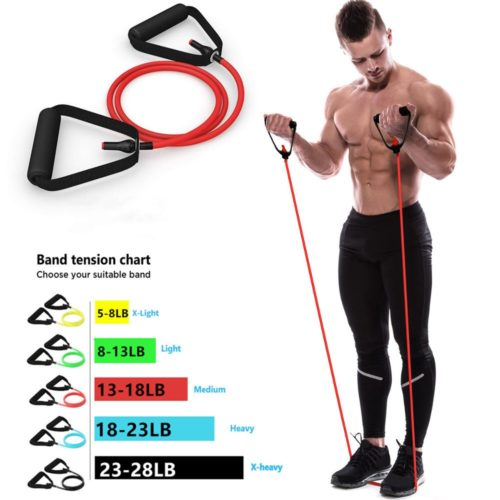 Fitness Resistance Band 5 Levels Elastic Band