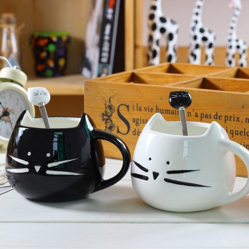 Cute Coffee Mug Ceramic Cute Cat Design