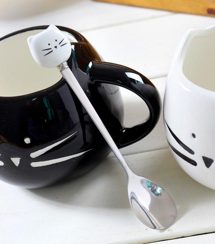 Cute Coffee Mug Ceramic Cute Cat Design
