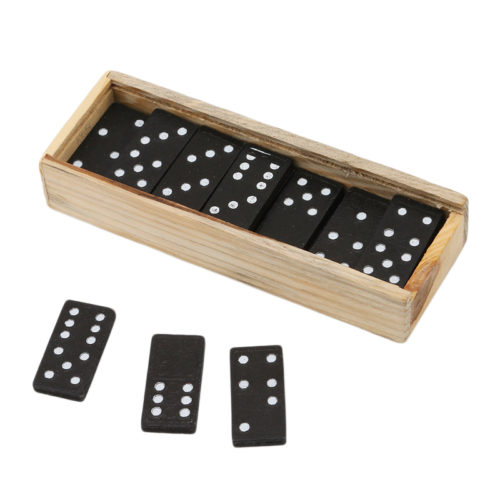 Wooden Dominoes 28PCS Game Set