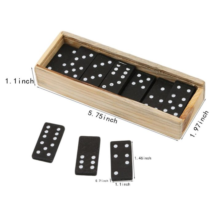 Wooden Dominoes 28PCS Game Set
