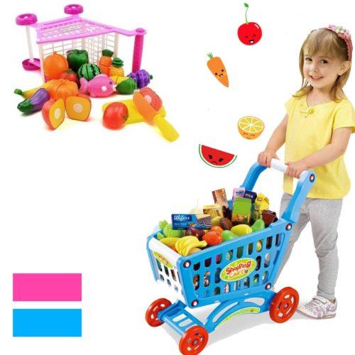 Toy Shopping Trolley 16PCS Toy Set