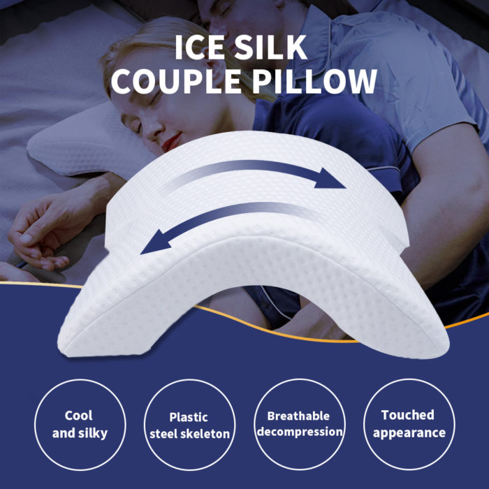 Spooning Pillow Couple Curve Cushion