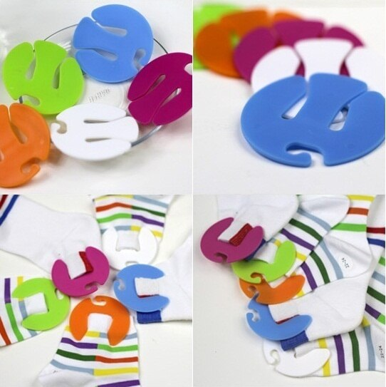 Sock Clips Holder and Hanger (10 pcs)