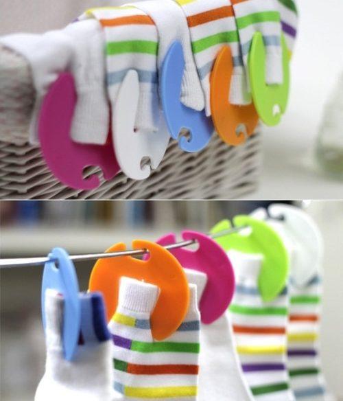 Sock Clips Holder and Hanger (10 pcs)
