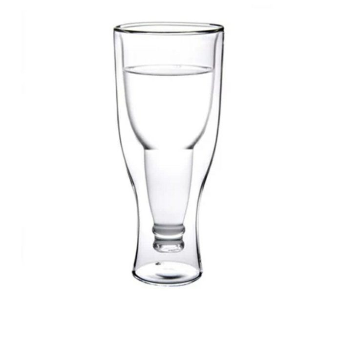 Cool Beer Glass Upside Down Design