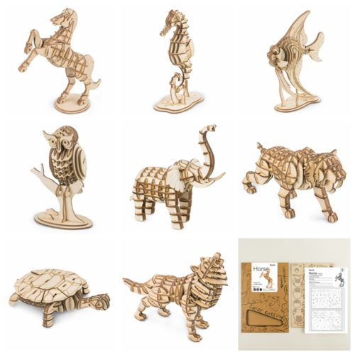 Wooden Animal Puzzle 3D Assembly Toy