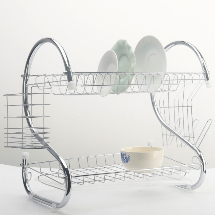 2 Tiers Dish Rack Organizer