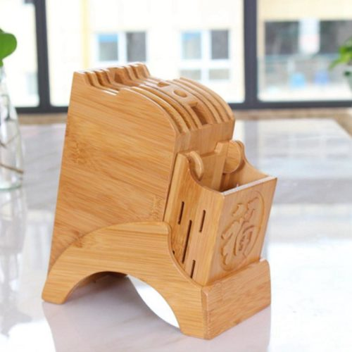 Knife Stand Wooden Kitchen Organizer