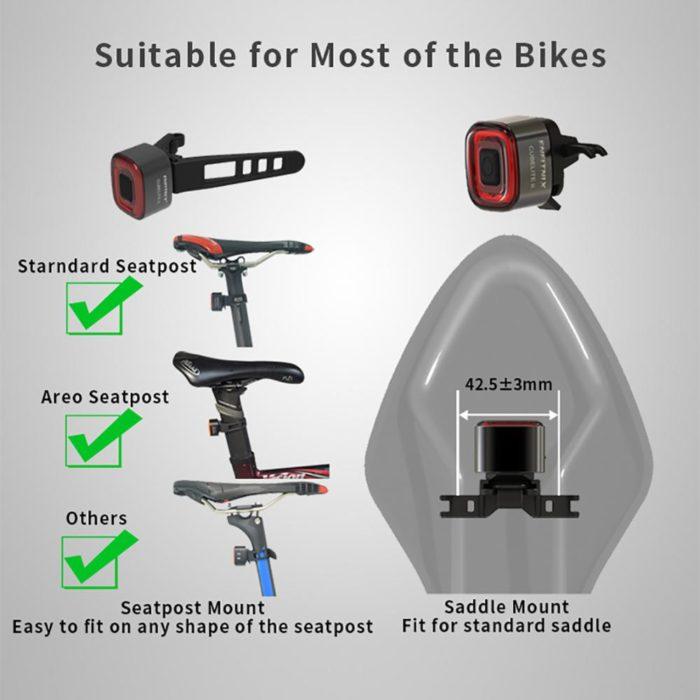 Bike Tail Light USB Rechargeable LED Light