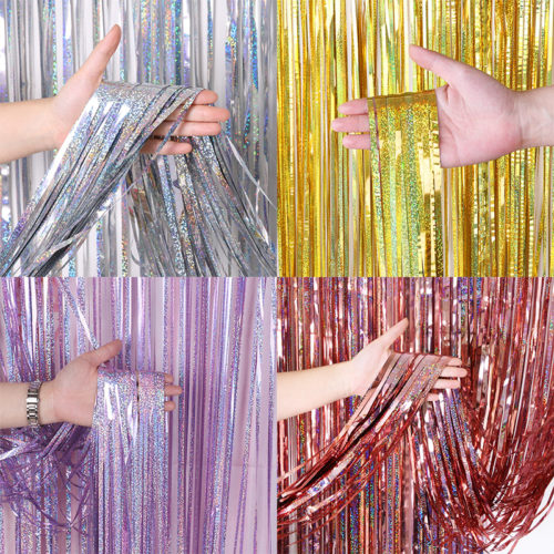 Tinsel Curtain Foil Fringe Backdrop