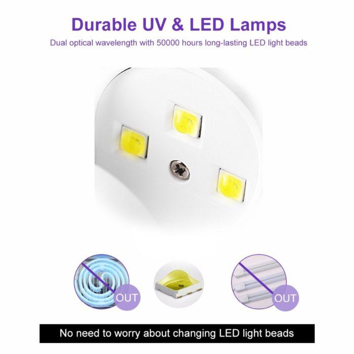 UV Nail Dryer Single Finger Lamp