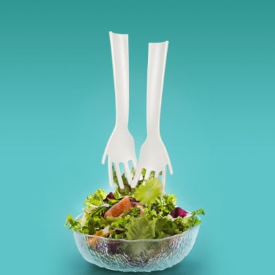Salad Servers Hands Design