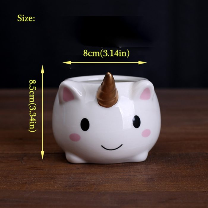 Small Ceramic Pot Cute Unicorn Pot