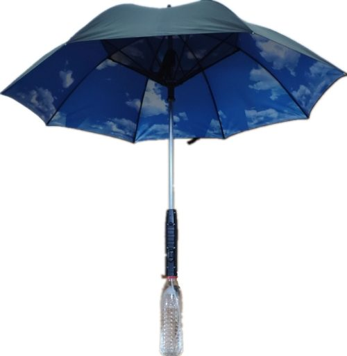 Umbrella with Fan and Mist Spray