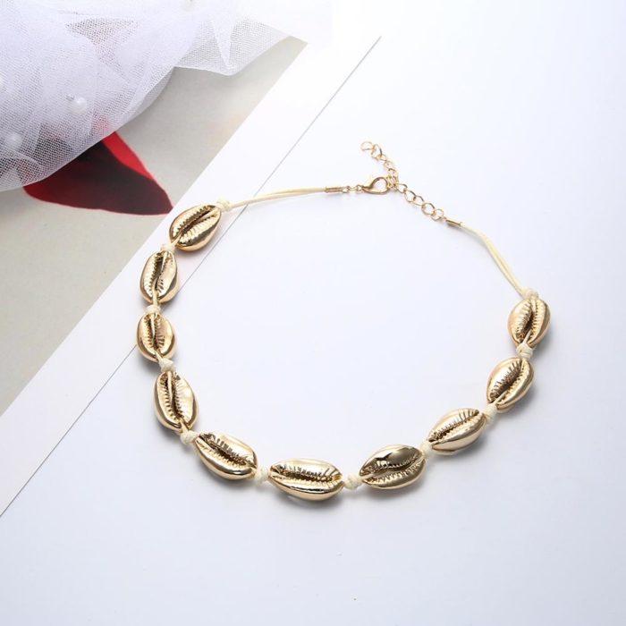 Seashell Choker Beaded Shells Necklace