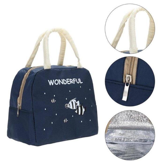 Lunch Tote Bag Insulated Storage Bag