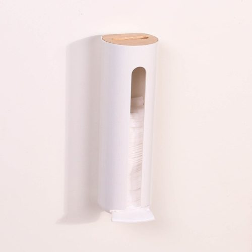 Cotton Pad Holder Wall-Mount Dispenser