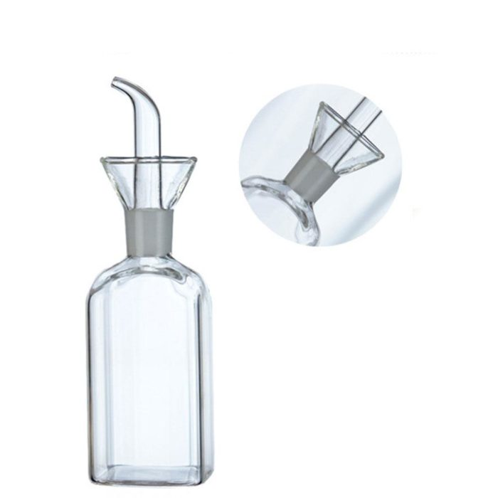 Glass Oil Bottle Sauce Container