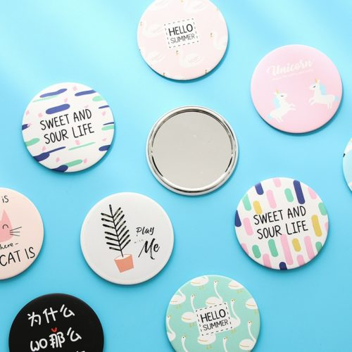 Small Round Mirror Cute Portable Mirror